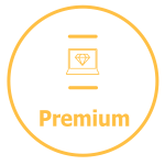 Premiumwebsite pakket icoon